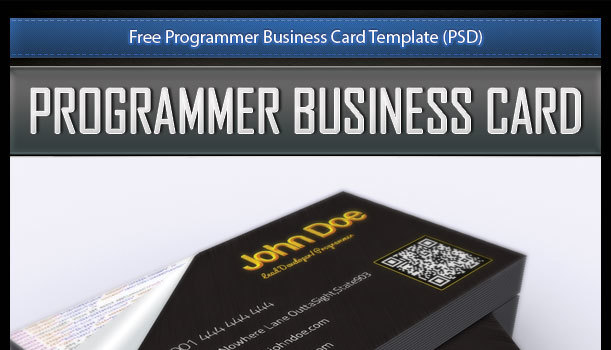 Free Programmer Business Card Template (PSD)