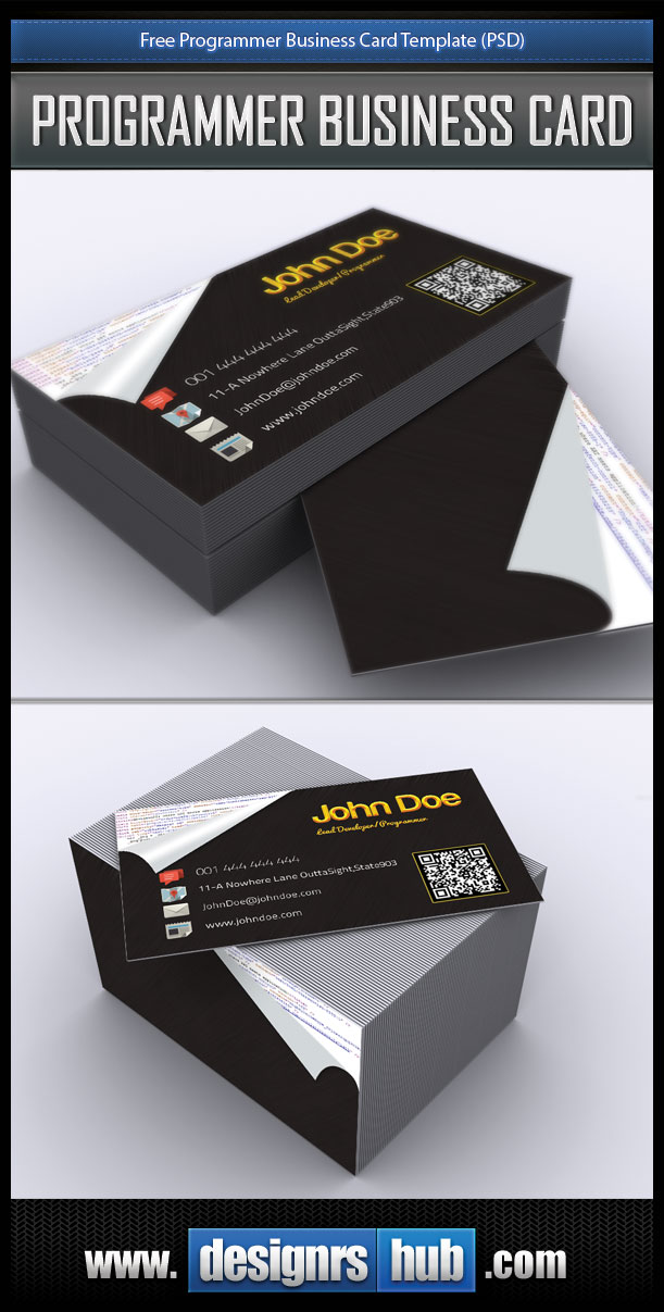 Free programmer business card template psd download free programmer business card template psd friedricerecipe Choice Image