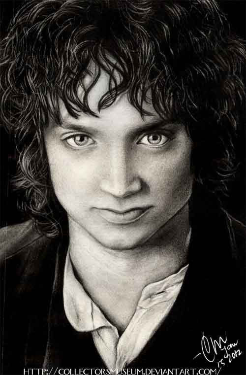 Frodo Baggins Pencil Portrait