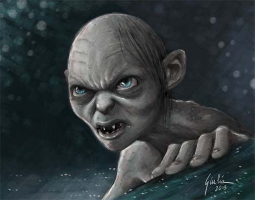 FanArt of Gollum from The Hobbit