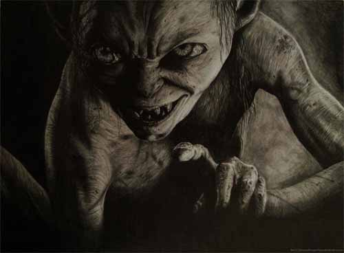 Gollum Sketch Art
