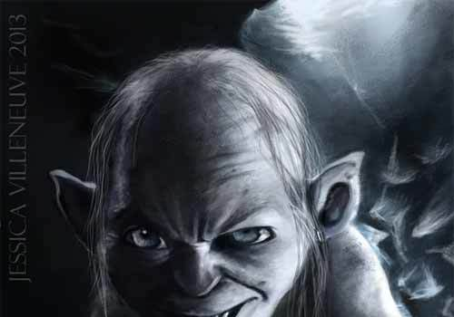 Sneaky Gollum Artwork Collection for Inspiration