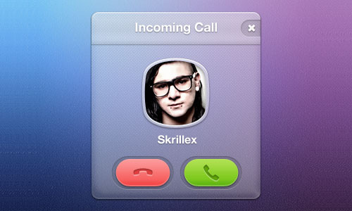 Free Incoming Call PSD
