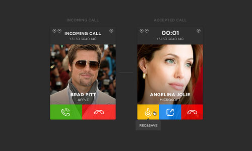 how to change in coming call