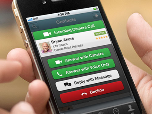 Incoming Call Screen for App