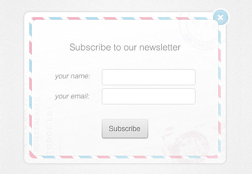 Newsletter Form Free PSD