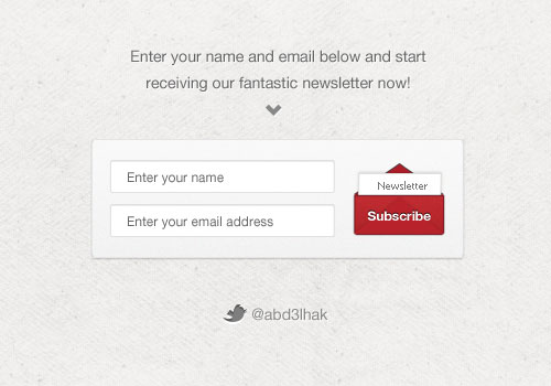 Newsletter Subscription Form (PSD)