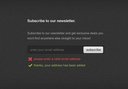 Newsletter Sign-up Form (PSD)