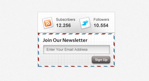 20 Free Newsletter Subscription Form Templates (PSD)