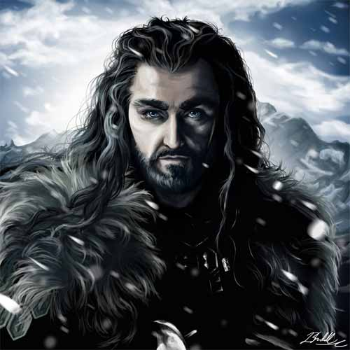 Digital Illustrations of Thorin Oakenshield