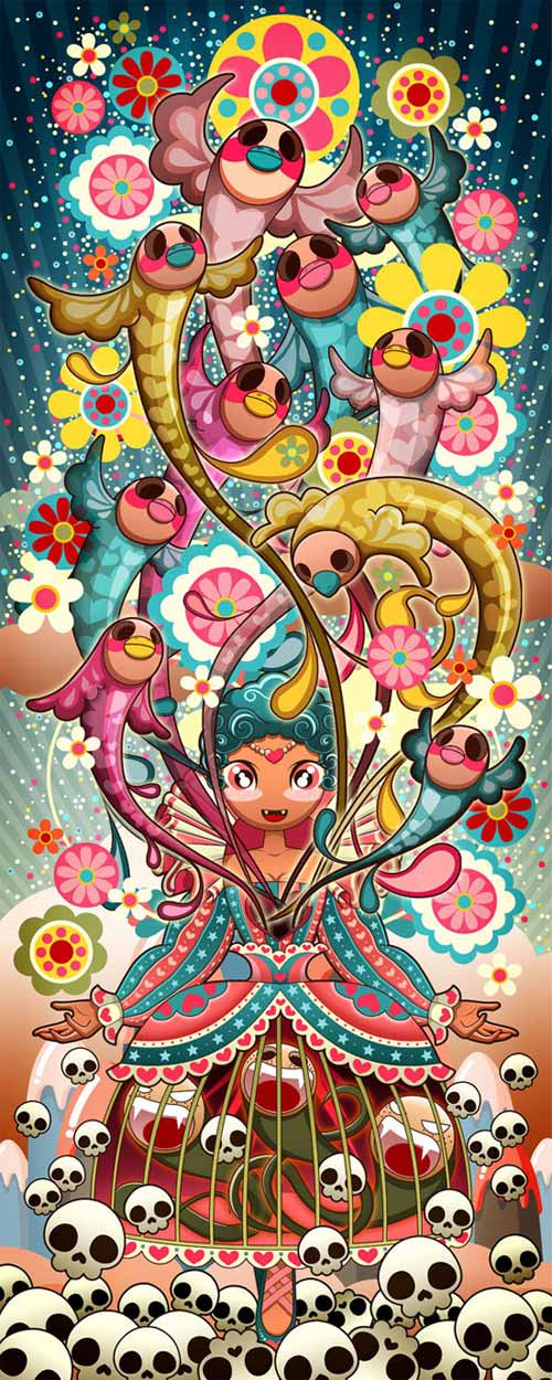 sweet candy art designs and illustrations by sheena aw