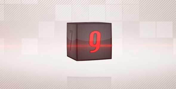 3D Box Countdown Logo Reveal