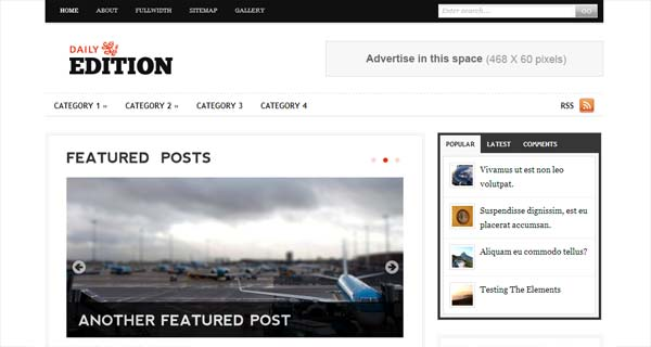 Daily Edition - Magazine ExpressionEngine Themes