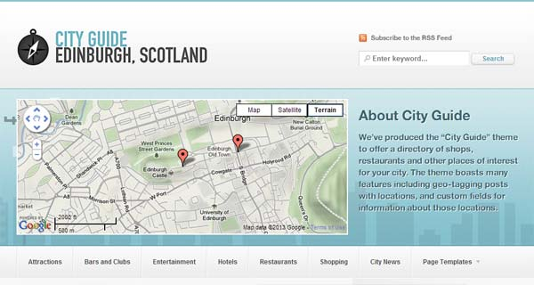 City Guide - Geolocation EE Theme