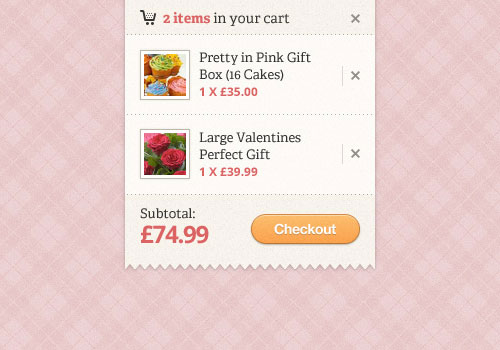 "Shopping Cart ""Quick View"" (PSD)"