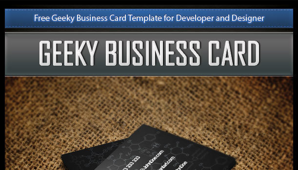 Free Geeky Business Card Template for Developers