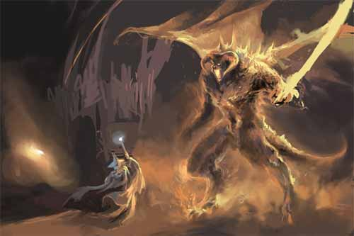 Gandalf and Balrog