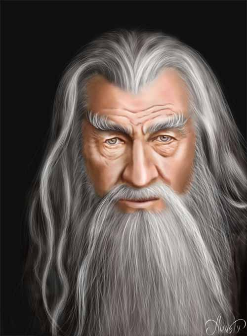 The portrait of Gandalf