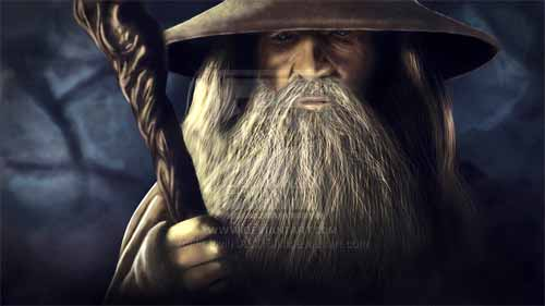 Digital Painting of Gandalf