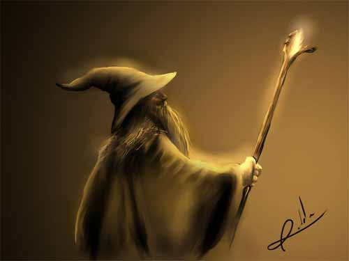Gandalf Digital Illustration
