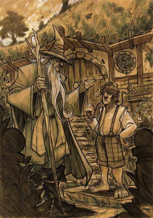 The Hobbit - Gandalf and Bilbo