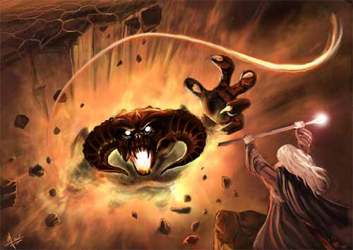 LOTR - Gandalf and the Balrog