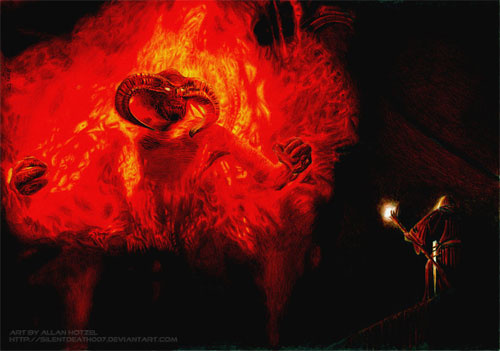 Balrog and Gandalf