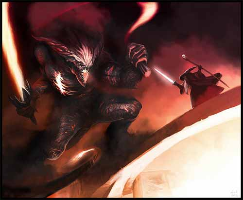 Gandalf vs the Balrog