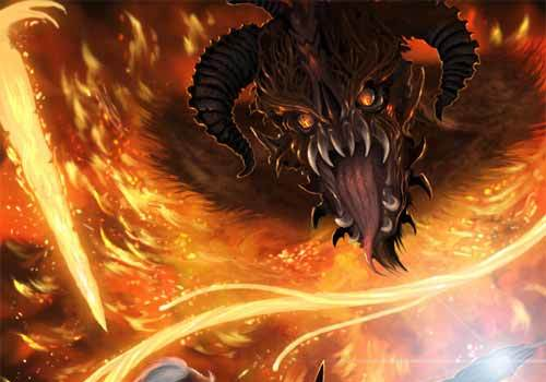 The Fellowship of the Ring: Gandalf vs Balrog Artworks