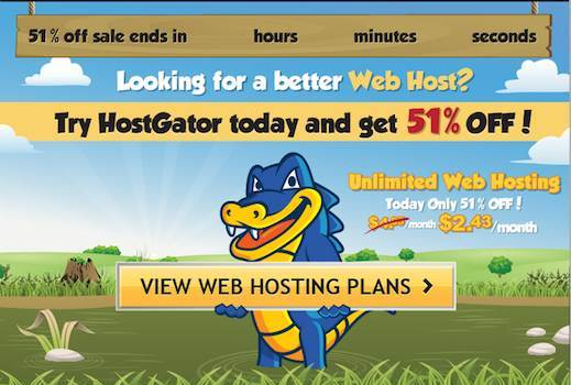 51% Off HostGator Coupon – Web Hosting as low as $2.43