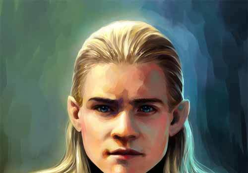 Graphic Design Artworks Illustrating Legolas Greenleaf