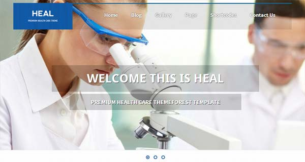 A Showcase of Medical and Health WordPress Theme