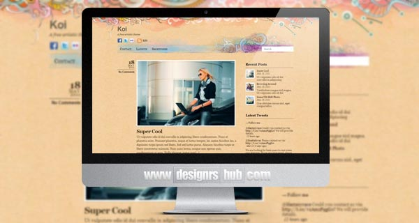 Koi - Free Personal WordPress Theme