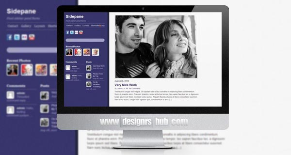 Sidepane - Fixed Sidebar WordPress Theme