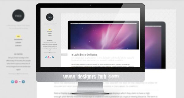 Fixed WordPress Theme