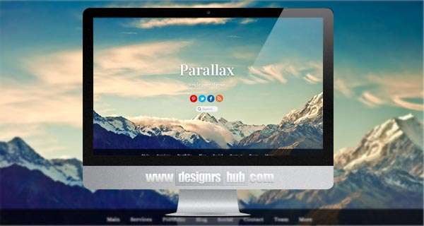 Parallax Scrolling Single-Page Theme
