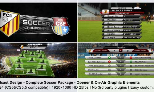 Broadcast Design - Complete On-Air Soccer Package