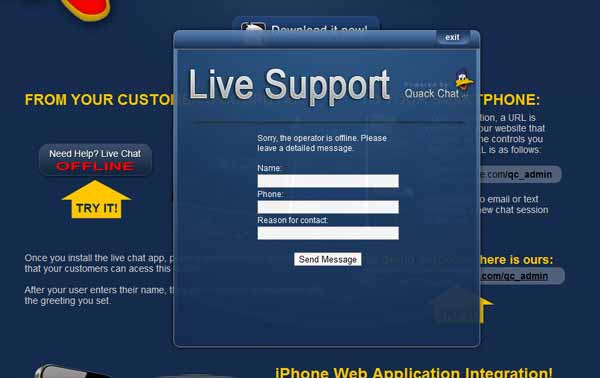 WP Quack Chat Live Chat System