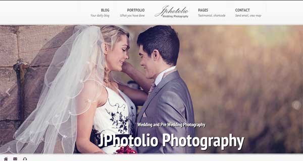 JPhotolio: Responsive Wedding Photography Theme