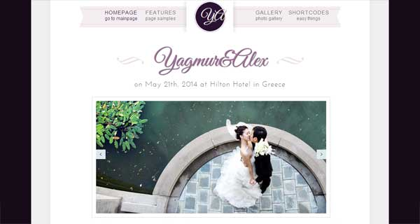 Wedding Day - Unique Minimal Bootstrap Theme