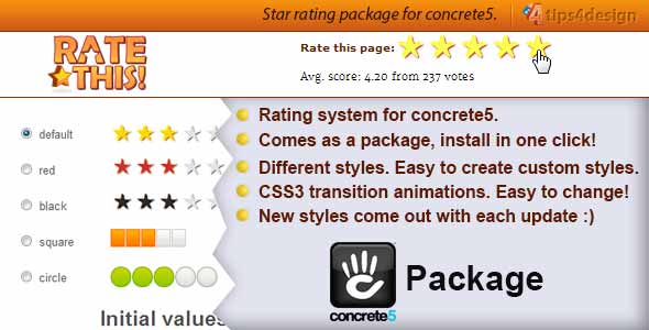 rateThis - Concrete5 Rating System
