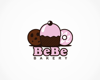 Sweetly Baked Donut Logo Design Collection