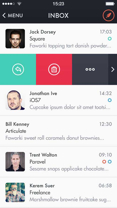 Mochila Mail iOS7 by Victor Erixon