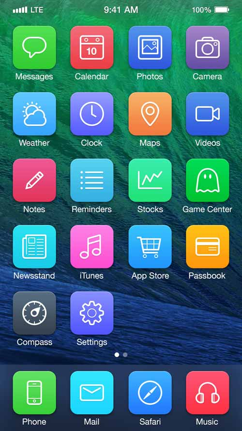 iOS 7 Redesign Concepts by Michael Boswell