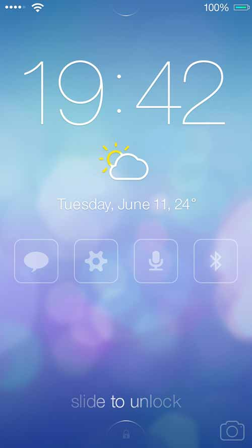 iOS7 Lock screen – Redesign Concept by Mariusz