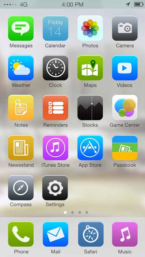 Apple iOS 7 Redesign by Venkatesh Aiyulu