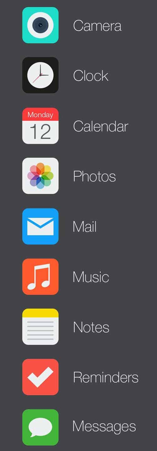 iOS 7 Icon Redesign by Suhaila Baheyeldin