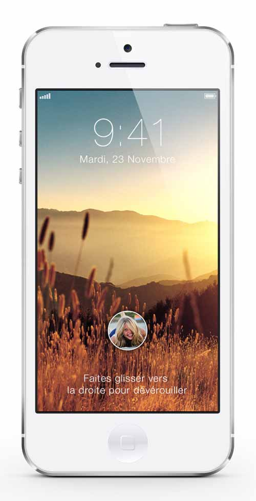 IOS 7 Lockscreen Concept by Alexis Jossart