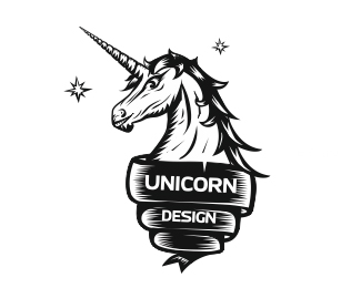 20 Mystically Constructed Unicorn Logo Design