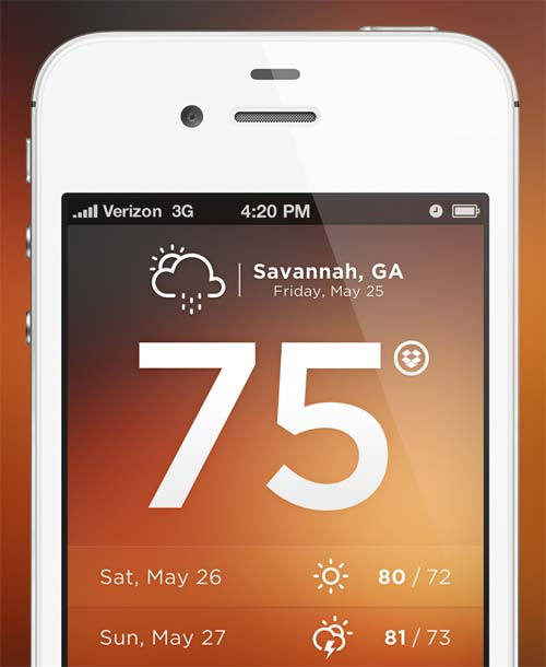 Dropbox Weather App